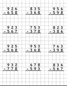Фотография Math Division Worksheets, Math Addition Worksheets, Writing Practice Worksheets, 3rd Grade Math Worksheets, Printable Math Worksheets, School Worksheets, Math Drills, Math Subtraction, Math Vocabulary