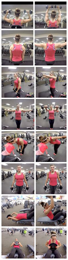 10 weeks to fit-Day 2: shoulders & Abs | Fitness Food Diva