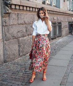 Ganni street style | Gine Margrethe | Seneca Silk Skirt