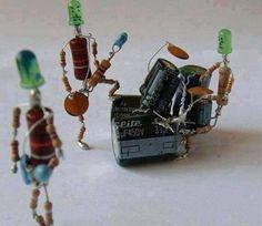 Electronic parts sculpture