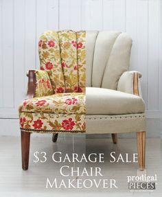 $3 Garage Sale Channel Back Chair Gets Deconstructed Makeover by Prodigal Pieces www.prodigalpieces.com #prodigalpieces.com