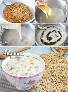 Green Lentil Noodle Yogurt Soup Recipe, How To? - Womanly Recipes - Delicious, Practical and Delicious Food Recipes Site - Yogurt Recipes, Lentil Recipes, Soup Recipes, Make Green, Healthy Protein Snacks, Green Lentils, Food Articles, Recipe Sites, Recipes