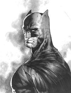 Batman by Stephan Platt Comic Book Artists, Comic Book Characters, Comic Book Heroes, Comic Artist, Comic Books Art, Batman Drawing, Batman Artwork, Catwoman, Héros Dc Comics