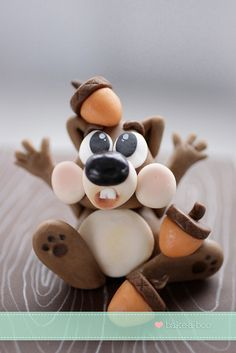 Made this for a good friend of mine..a wee chocolate cake with adorable little squirrel by Bake-a-boo Cakes NZ, via Flickr