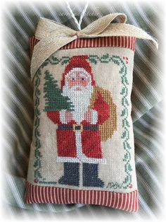 Greetings friends and Merry Christmas! I wanted to take a moment to share a few personal stitches of mine. Santa Cross Stitch, Beaded Cross Stitch, Crochet Cross, Counted Cross Stitch Patterns, Cross Stitch Designs, Cross Stitch Embroidery, Cross Stitch Christmas Ornaments, Christmas Cross, Merry Christmas