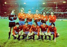 EQUIPOS DE FÚTBOL: SELECCIÓN DE ESPAÑA contra Inglaterra 25/03/1981