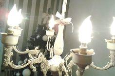 vecchio lampadario recuperato e relokkato