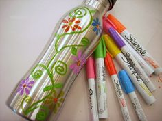 Spruce Up a Stainless Steel Water Bottle with Sharpie Paint Pens