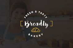 10 Bakery Shop Flat Script Logo by misterRyArt™ on @creativemarket