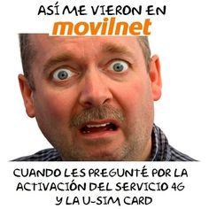 y así fue la cara del empleado de @instasomosmovilnet  en la Oficina de Movilnet en el CC Sambil de CCS cuando fui a activar mi servicio 4G...que tristeza!