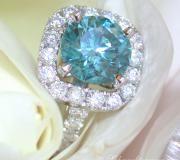 Exquisite blue diamond solitaire ring image