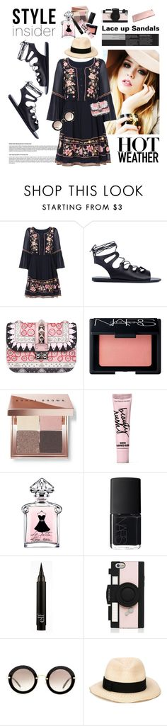"""Oh so Pretty"" by traceygraves on Polyvore featuring French Connection, Ancient Greek Sandals, Valentino, NARS Cosmetics, Bobbi Brown Cosmetics, Beauty Rush, Kate Spade, Miu Miu, Eugenia Kim and contestentry"