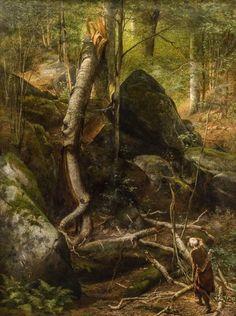 William Holbrook Beard (1825-1900) - The Fallen Landmark (1872)