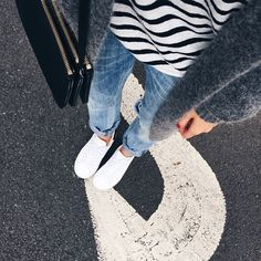 Casual Sunday! Shop the outfit www.liketk.it/1tpfM #acnestudios #céline #stansmith #citizensofhumanity #tbyalexanderwang