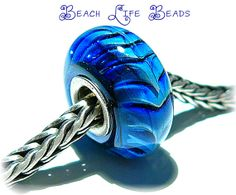 NAVY BLUE RIPCURL Fully Lined Sterling Silver by beachlifebeads, $26.00
