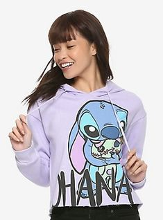 Shop for the latest new arrivals, pop culture merchandise, gifts & collectibles at Hot Topic! From new arrivals to tees, figures & more, Hot Topic is your one-stop-shop for must-have music & pop culture-inspired merch. Lilo And Stitch Quotes, Lilo And Stitch Ohana, Disney Stitch, Disney Shirts, Disney Outfits, Cute Outfits, Disney Clothes, Stitch Toy, Cute Stitch