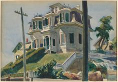 Edward Hopper, Haskell's House, 1924. Acuarela sobre papel, 34.3 x 49.5 cm, National Gallery of Art, Washington