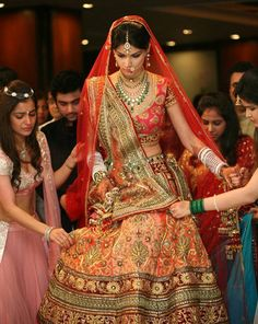Indian bride at her wedding