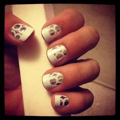 Nail art - different take on French Mani....obsessed with this