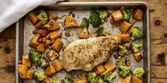 Sheet Pan Chicken Breast With Butternut Squash and Crispy Broccoli