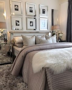 This is a Bedroom Interior Design Ideas. House is a private bedroom and is usually hidden from our guests. Much of our bedroom … Bedroom Apartment, Home Decor Bedroom, Bedroom Decor Glam, Bedroom Furniture, Diy Bedroom, Girls Bedroom, Master Bedroom Design, Bedroom Designs, Glam Master Bedroom