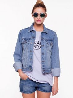 KOOVS Denim Jacket | jackets for women online in india | Pinterest ...