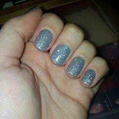 Sensationail Smoked Stiletto and Silver Glitter