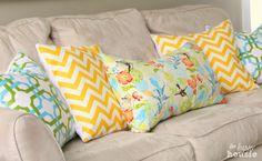 Réhaussez votre intérieur avec de beaux oreillers DIY  #oreiller #taied'oreiller
