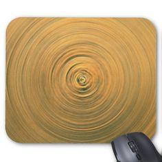 Abstract Gold Swirling Magic Eye Design Mouse Pads