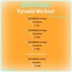 Burpee & Bell Pyramid Workout