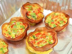 Skinny Points Recipes  » 3 SmartPoints Baked Ham and Egg Cups