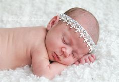 Handmade Rhinestone Glamorours Tie Back-Headband, Photography Prop by AngelsAndLullabies on Etsy