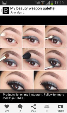 Step by step day time smokey eyes