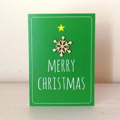 Wooden Snowflake - Merry Christmas - Alljoy