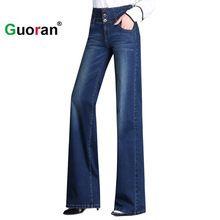 eb4a748c18 Online Get Cheap Plus Tamaño Pierna Ancha Cintura Alta Pantalones De Denim  -Aliexpress.com