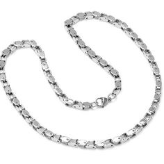 Mens Silver Tone Stainless Steel 24 inch Chain Necklace Oxford Ivy. $12.95. Size is not adjustable.. 24 inches long. Stainless Steel Links. 5mm wide. Lobster Clasp. Save 78%!