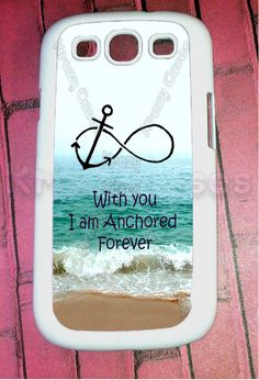 Samsung Galaxy S3 Case, Forever Anchored, Infinity Samsung Galaxy S3 Cover, Samsung Galaxy S3 Cases, Galaxy s3 case. $16.95, via Etsy.