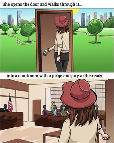 She opens the door and walks through it… … into a courtroom with a judge and jury at the ready. _  Storyboards by storyboard artist Cuong Huynh. Got A Script? I'll Storyboard It. #girl #open #door #courtroom #court #judge #jury #arrive #arrival #enter #ready #juryduty #commercial #storyboard #artist #storyboarding #storyboards #drawing #drawings #films #director #filmproducer #filmcrew #filmmaking #filmmaker #preproduction #filmproduction #illustrator #illustration #color
