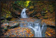 Peaceful Autumn Cascades - Letchworth ( Shadow Falls ) by :: Igor Borisenko Photography ::, via Flickr