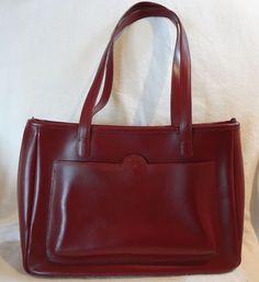 simple red handbag Italian calfskin