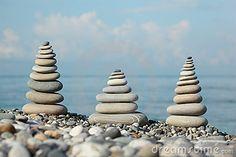 Pebble stacks