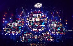 iHeartRadio Vegas - this stage, designed and built by ATOMIC, featured a 3D video wall that featured fan Instagram and Twitter posts throughout the show