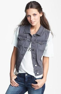 Studs + Denim = Vest Love