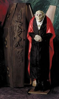Count Dracula, I am going to try to get him next halloween. We go all out in decorations, neighbor kids loved it!!