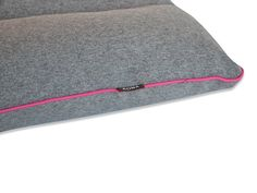 Add a pop of color to your and your dog's life.  Check out this beautiful grey flannel bed with hot pink trim. <3  Beautiful Dog Bed that looks Great in Your Home - Kona Cave