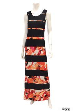 Nom du vêtement: DANA. Voici la robe longue qu'il vous faut ! Et si vous êtes toujours trop grande pour porter une robe longue sans qu'elle soit trop courte, celle-ci est pour vous!  Son tissu est parfait: de grande qualité, infroissable et très durable. Facile d'entretien: laver à la machine et suspendre pour sécher. Exclusivité VICKIE. Pensée et fabriquée entièrement en Beauce. 90% polyester 10% lycra. Dana, Polyester, Voici, Parfait, Short, Apron, Collection, Fashion, Dress