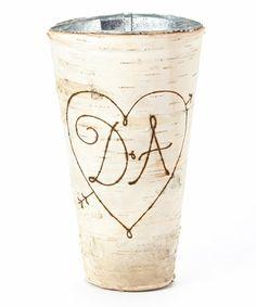 Another great find on #zulily! Natural Birch Initial Vase #zulilyfinds