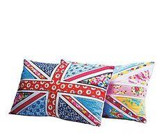 Para los comodones: Set de 2 cojines patchwork