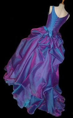 blue & purple gown for maid of honor! ♡ it! I could imagine Beth Rockin' this dress! So vibrant just like her! :)