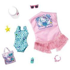 Barbie Doll Accessories, Doll Clothes Barbie, Barbie Dolls, Girl Dolls, Barbie Costume, Barbie Stuff, Yellow Mini Skirt, Mermaid Barbie, Accessoires Barbie